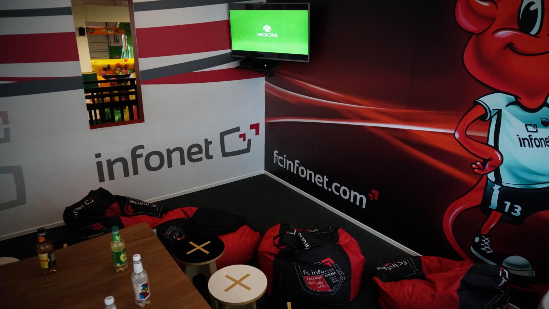 FC Infonet / 20 käepaela / Asub teisel korrusel